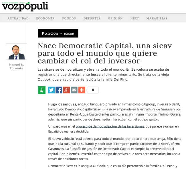 Nace Democratic Capital SICAV